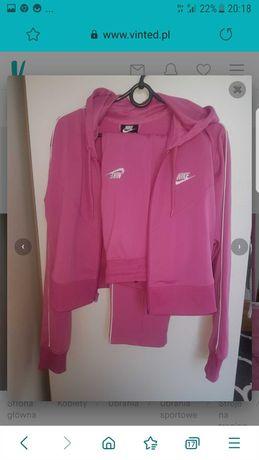 różowy komplet dresowy nike stan idealny spodnie bluza super cena