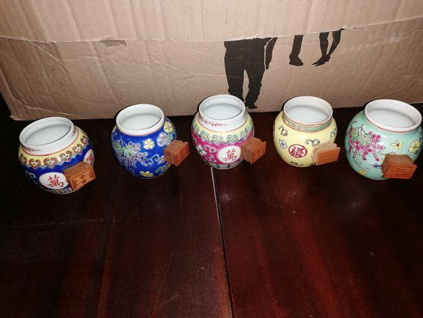 5 Chávenas decorativas