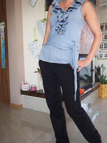 Spodnie ciążowe 38/M H&M czarne wzrost 170 cm