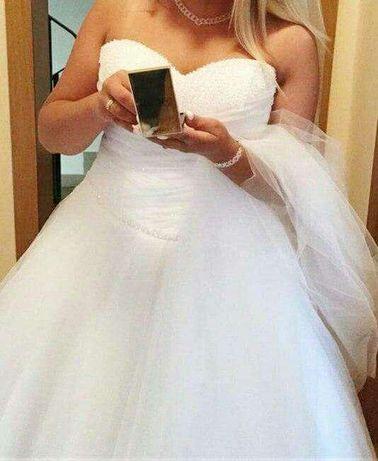 Suknia Ślubna typu Princess+welony+buty