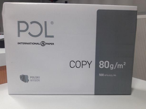 Papier ksero POL COPY A4 80g/m2 karton Ekspress wysyłka - Super Cena