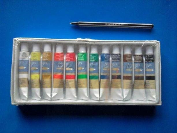 краски масляные качественные -12 цветов
