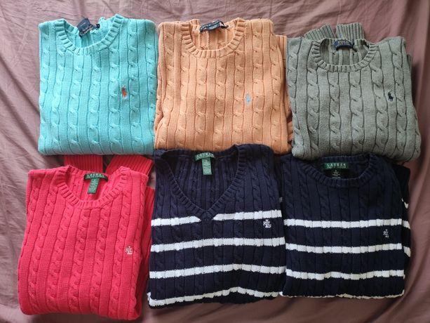 Ralph Lauren Senhora S e M Camisolas e Camisas Original 100% Algodão