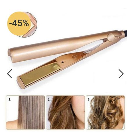 Urządzenie do prostowania oraz kręcenia włosów.