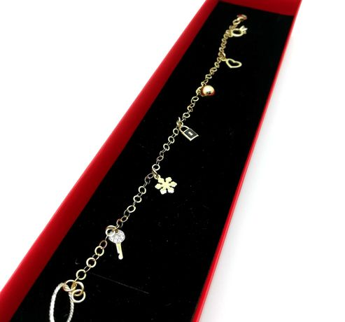 Złota Bransoletka Charmsy p585 4,46g 18,5cm LOM95
