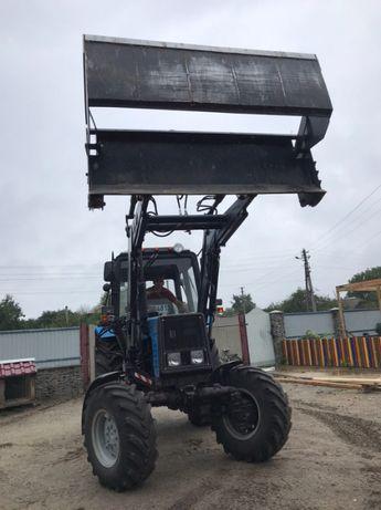Фронтальний навантажувач Польща. Фронтальный погрузчик на МТЗ,Т40,Т25