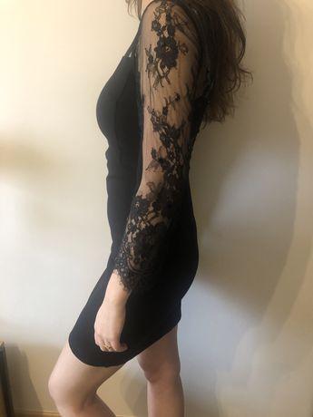 Czarna koronkowa sukienka Topshop