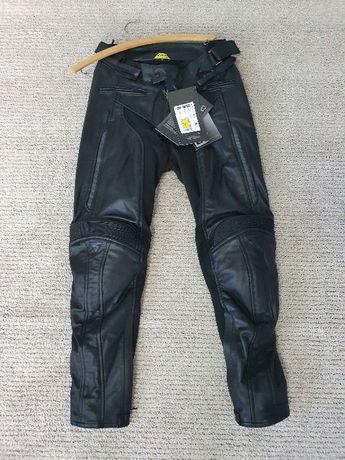 Spodnie motocyklowe damskie Shima Monaco lady r. S skórzane skóra