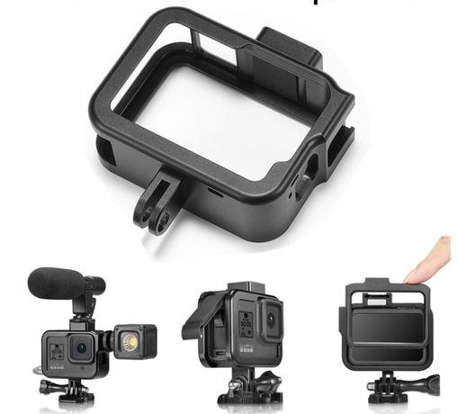 Akcesoria do GoPro 8 - Ramka Aluminiowa Klatka montażowa Frame Black