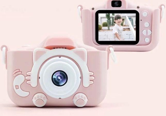 Детский фотоаппарат с 2 камерами Котики. Цифровой фотик для ребенка.