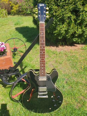 Gitara. BURNY SRSA-60 Hollow Body, JAPAN. Japonia.