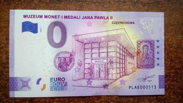 Banknot 0 euro Częstochowa - UNC nr 513
