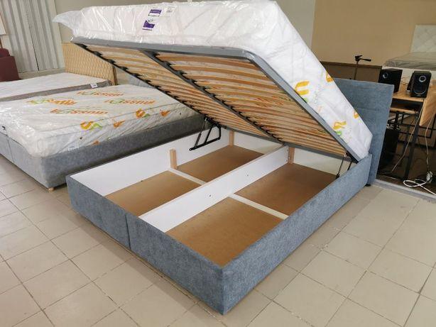 Мягкая двуспальная Кровать Letto L 160Х200 с нишей для белья