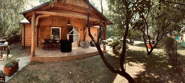 Dom Miłachówek Domek drewno kominek drewniany
