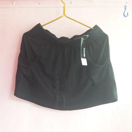 Юбка школьная черная с карманами 12-14 л