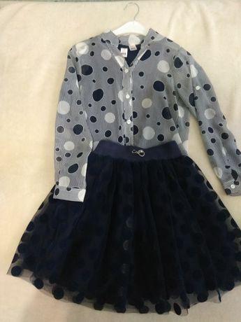 Костюм (спідниця, юбка, блузка, сорочка) 9-10років