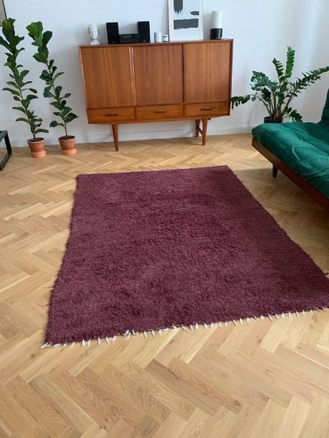 Dywan Kurpianka, bawełniany kolor bakłażanowy