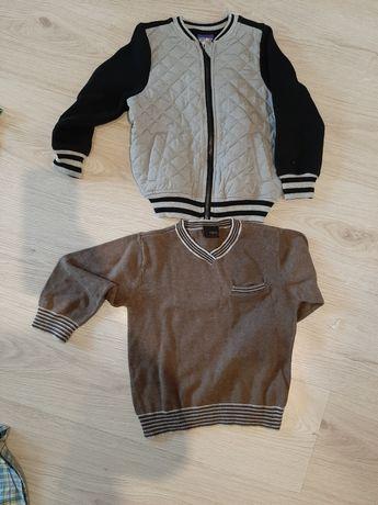 Modniarska bluza i sweterek. Rozm 98