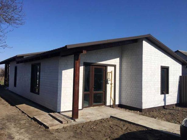 Продам одноэтажный новый дом 100м2 вГлеваха, Одесская трасса