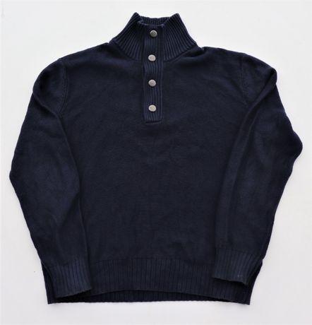 Męski bawełniany sweter MEXX r. XXL granatowy markowy okazja!