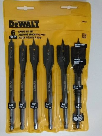 Набор перьевых сверл DEWALT DW1587 6 шт Bosch Makita Milwaukee