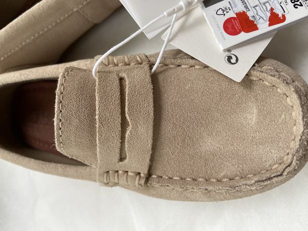 Замшевые кожаные детские мокасины бренд Zara
