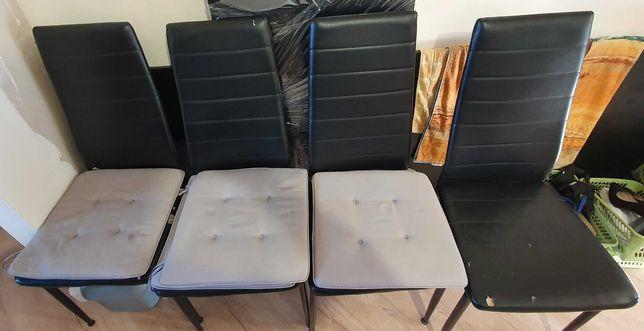 Oddam za darmo - 4 krzesła - czarna ekoskóra