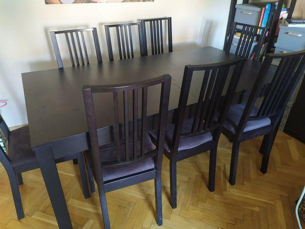 IKEA Bjursta stół rozkładany 175/217/260 i 8 krzeseł dobry stan