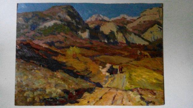 старая живопись Художник Иван Лысенко Осень в горах 1961г.