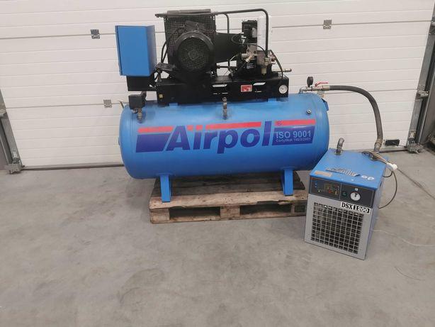 Sprężarka śrubowa 7.5kw AIRPOL kompresor 1160l/min +OSUSZACZ