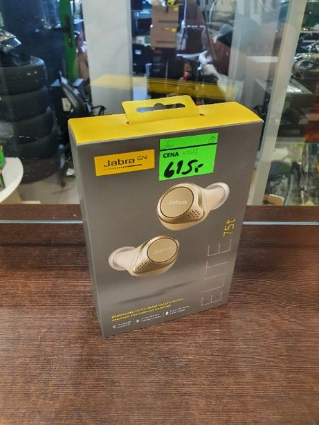 Słuchawki Jabra Elite 75t Złote