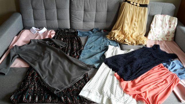 sukienki mega paka zestaw 34 36 ciuchy ciuszki damskie