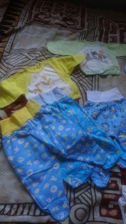 Распашонки,  ползунки. Одежда для новорожденного