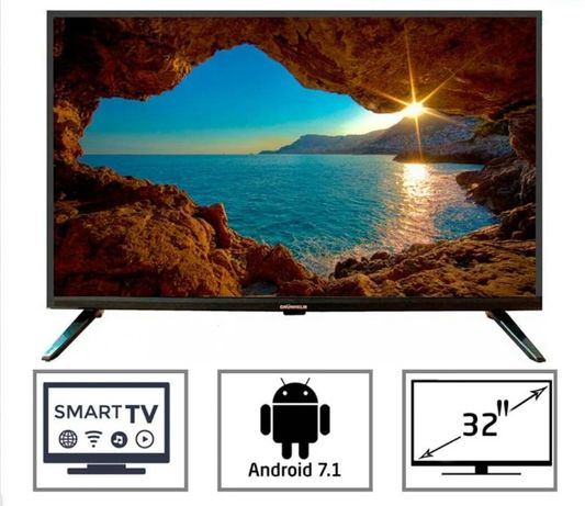 "Телевизор SMART 32"" GRUNHELM. 2 года гарантии! Смарт телевизор. Новый!"