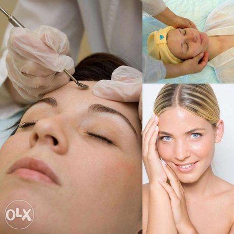 Врач косметолог чистка лица лазерная эпиляция шугаринг пилинг