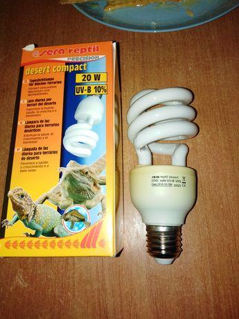 УФ лампа для рептилий. Лампа reptil desert compact UV-B 10% 20 w