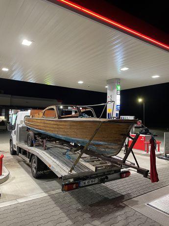 Łodź motorowa Elektrolux Campingbåt szwedzka lata 50 drewniana mahoń