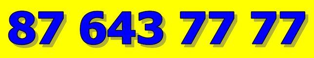 87 - 643 - 77 77 - sprzedam PLATYNOWY ZŁOTY numer telefonu