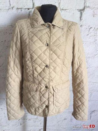 pikowana kurtka benetton beżowa jak nowa klasyka mle tusk jesień
