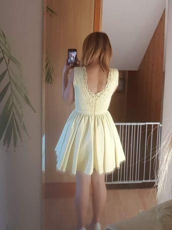 sukienka lou żółta