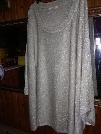 Bluzka nietoperz xxxl- stare zloto- over size