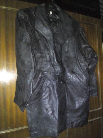 casaco de senhora em pele trabalhada em preto XL