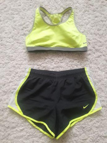 Nike шорты и топ,костюм для фитнеса,аэробики