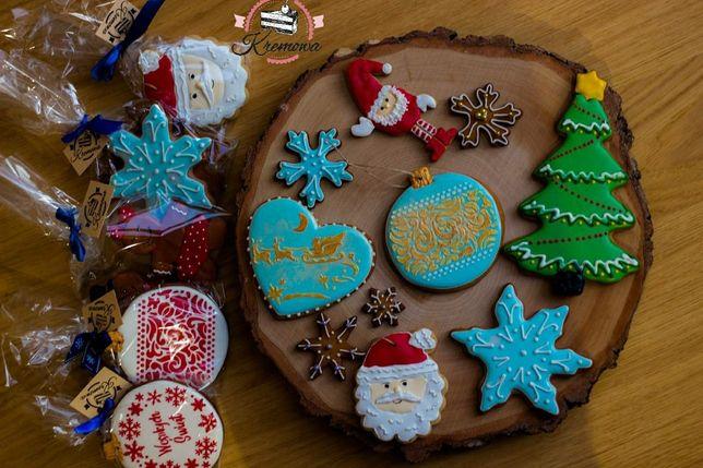 Ręcznie zdobione świąteczne pierniki, wysyłka lub odbiór Szczecin
