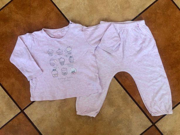 Wygodna piżamka dla dziewczynki na 12-18 miesięcy