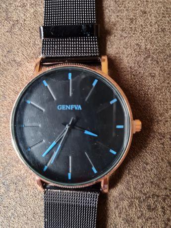 Damski zegarek nowy czarno złoty