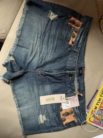 F&F denim jeansowe spodneki rozmiar 18/46