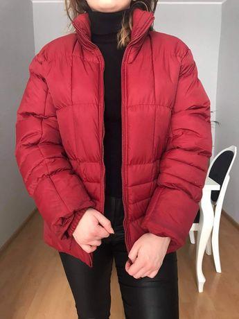 Czerwona pikowana ocieplana kurtka L 40
