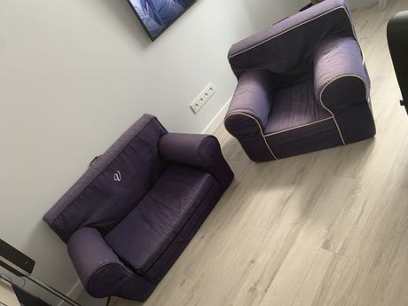 Детское кресло+диванчик мягкое 3-12 лет