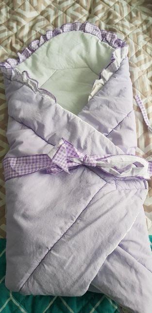 Komplet tekstyliów do łóżeczka, rożek, ochraniacz do łóżeczka,